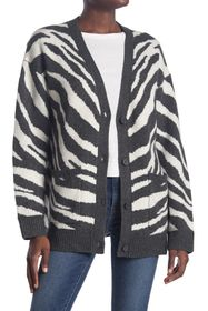 French Connection Tiger Stripe Jacquard Cardigan