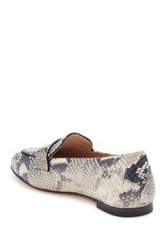 Stuart Weitzman Payson Leather Snake Print Loafer
