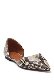 Coach Snake Embossed d'Orsay Flat