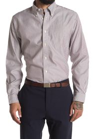 Brooks Brothers Pinstripe Print Regular Fit Shirt