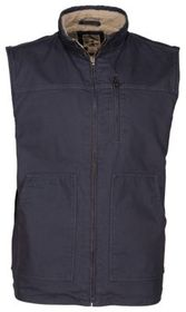 RedHead Sherpa-Lined Canvas Vest for Men with Zipp