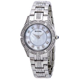 Bulova Bulova Crystals Mother of Pearl Dial Ladies
