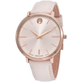 Movado Movado Ultra Slim Quartz Pink Dial Ladies W