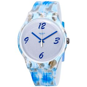 Swatch Swatch Bluquarelle Grey Dial Ladies Watch S
