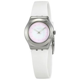 Swatch Swatch Sowhite Pink Dial White Silicone Lad