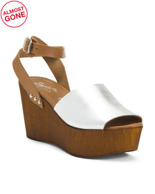 Made In Italy Ankle Strap Leather Heels