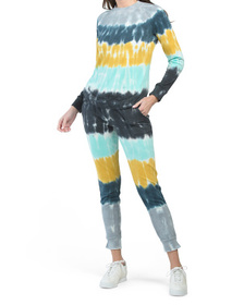 Waffle Ombre Top And Jogger Set