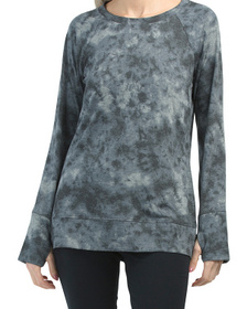 French Terry Tie Dye Pullover Top
