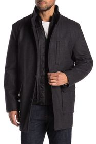 Cole Haan Wool Blend Coat & Puffer Jacket 2-Piece
