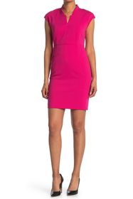 T Tahari Cap Sleeve Sheath Dress