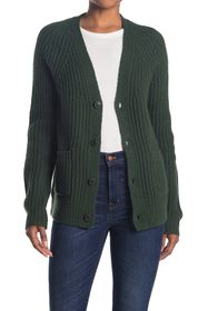 French Connection Ribbed Wool Blend Cardigan