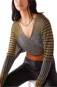 Free People Pluto Faux Wrap Top