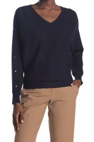 T Tahari Dolman V-Neck Sweater