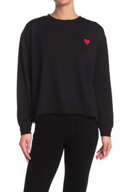 C & C California Heart Graphic Knit Pullover