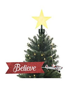 Animated Tree Topper- Biplane