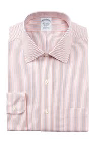Brooks Brothers Stripe Trim Fit Dress Shirt