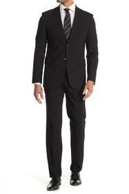 Theory Solid Two Button Notch Lapel Stretch Wool S