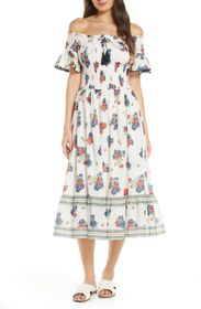Tory Burch Meadow Folly Off the Shoulder Cover-Up