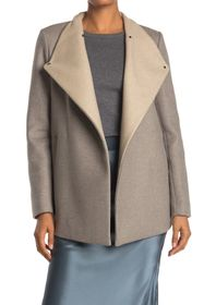Theory Naomo Wool Blend Funnel Neck Coat