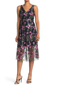 Vince Camuto Floral Embroidered V-Neck Sleeveless
