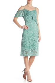Sam Edelman Lace V-Neck Midi Dress