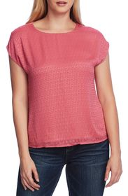 Vince Camuto Mix Media Blouse
