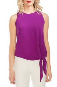Vince Camuto Crepe Tie Front Tank Top