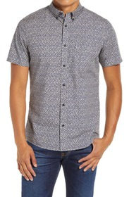 1901 Spade Slim Fit Floral Short Sleeve Button-Dow