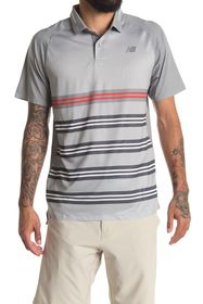 New Balance Striped Tournament Polo Shirt