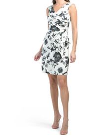 Silk Ruched Floral Dress