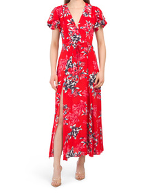Coletta Crepe Maxi Tea Dress
