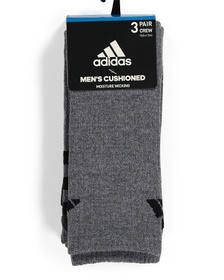 Men's Striped 3pk Crew Socks