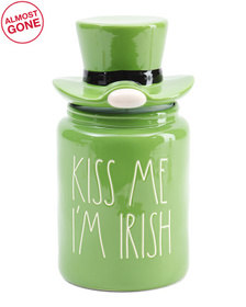 Figural Kiss Me Im Irish Canister