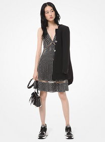 Michael Kors Embellished Georgette Dress