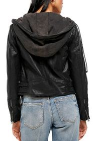 Free People Cleo Faux Leather Jacket