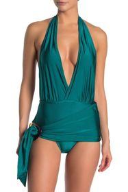 Nicole Miller One-Piece Plunging Neck Swimsuit