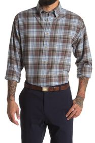 Brooks Brothers Plaid Print Flannel Regular Fit Sh