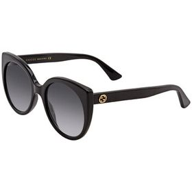 Gucci Gucci Ladies Black Cat-Eye Sunglasses GG0325
