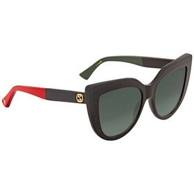 Gucci Gucci Green Gradient Cat Eye Ladies Sunglass