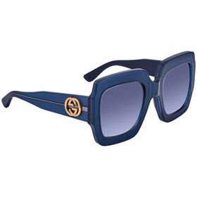 Gucci Gucci Blue Gradient Square Ladies Sunglasses
