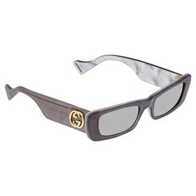 Gucci Gucci Silver Rectangular Ladies Sunglasses G
