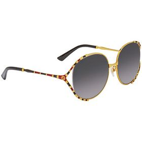 Gucci Gucci Grey Gradient Round Ladies Sunglasses