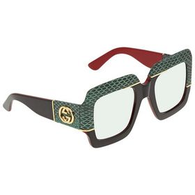 Gucci Gucci Green Gradient Square Ladies Sunglasse