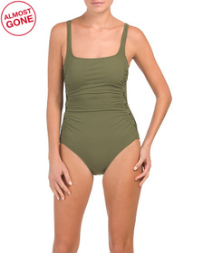Moto Upf 50 Tummy Control One-piece Swimsuit