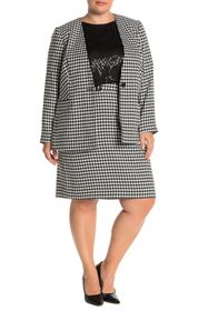 Calvin Klein Knee Length Houndstooth Skirt