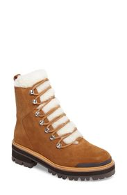 Marc Fisher LTD Izzie Genuine Shearling Lace-Up Bo
