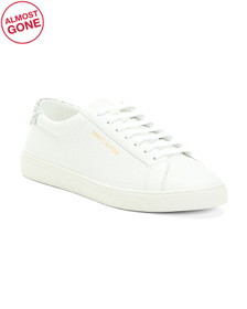 Made In Italy Leather Low Top Sneakers