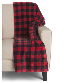 Bobbie Joe Buffalo Check Printed Loft Fleece Throw