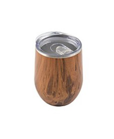 12 Oz Wood Decal Stainless Steel Wine Tumbler