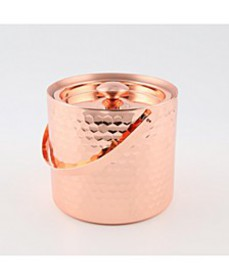 Copper Faceted Double Wall Ice Bucket